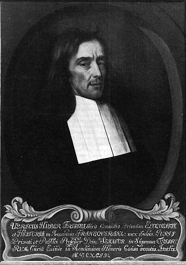Ulrik Huber (1636-1694) [Museum 't Coopmanshs, Franeker. Foto Dikken ...: www.rjhbrink.eu/Berolini/medewerkers/Lokin/RoomsFries.htm
